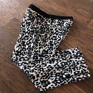Zara black and White Dalmatian Style Pants